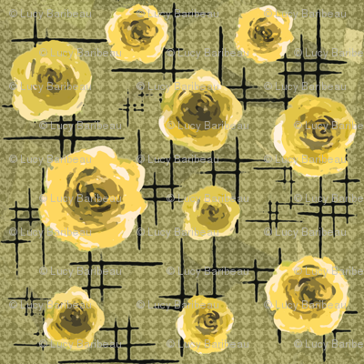 Mid-century yellow roses