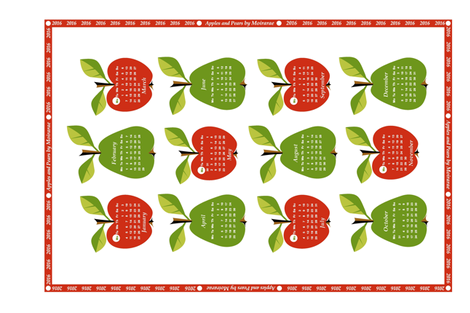 2016 - Apples & Pears  fabric by moirarae on Spoonflower - custom fabric