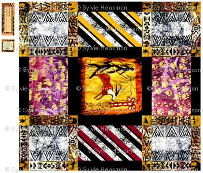 African_Rock_Painting_Quilt  2