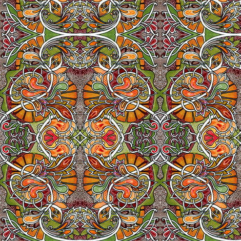 Where the Paisleys Go in Autumn fabric by edsel2084 on Spoonflower - custom fabric