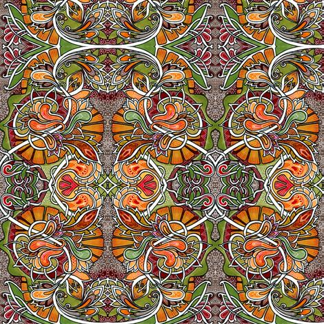 Where the Paisleys Go in Autumn fabric by edsel2084 on Spoonflower - custom fabric
