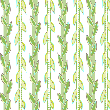 garden vines - lime fabric by fox&lark on Spoonflower - custom fabric
