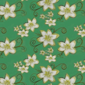 Flowerly - green version