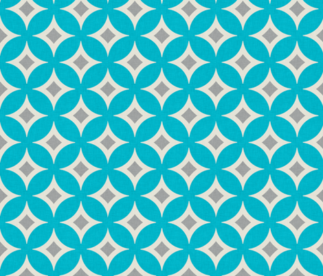 diamond_circles_aqua_large fabric by holli_zollinger on Spoonflower - custom fabric