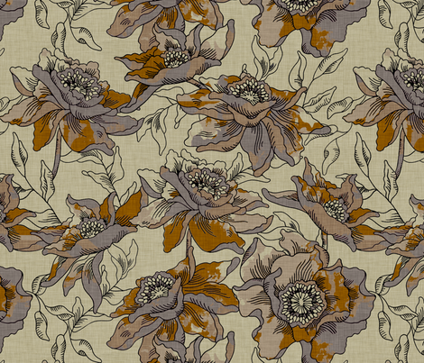 burlap_bohème fabric by holli_zollinger on Spoonflower - custom fabric