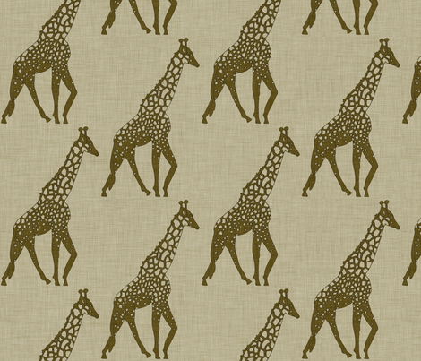 burlap_giraffe fabric by holli_zollinger on Spoonflower - custom fabric