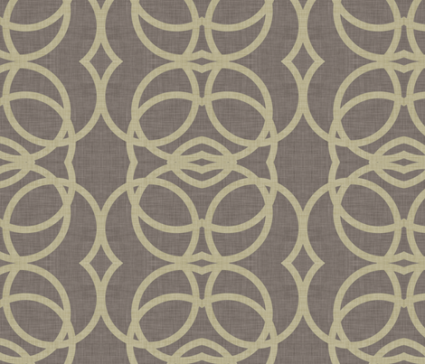 burlap_circles fabric by holli_zollinger on Spoonflower - custom fabric