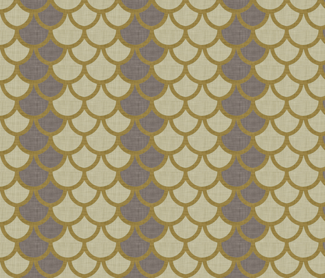 burlap_fishscale fabric by holli_zollinger on Spoonflower - custom fabric