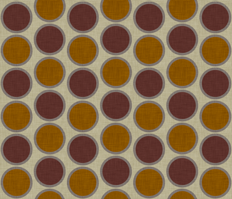 burlap_mod_circles fabric by holli_zollinger on Spoonflower - custom fabric