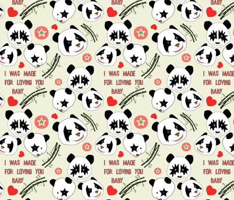 Kizz Panda fabric by susiprint on Spoonflower - custom fabric