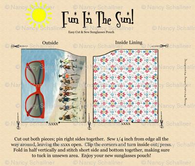 Fun In The Sun Sunglasses Pouch