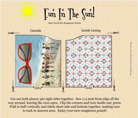 Fun In The Sun Sunglasses Pouch fabric by tulsa_gal on Spoonflower - custom fabric