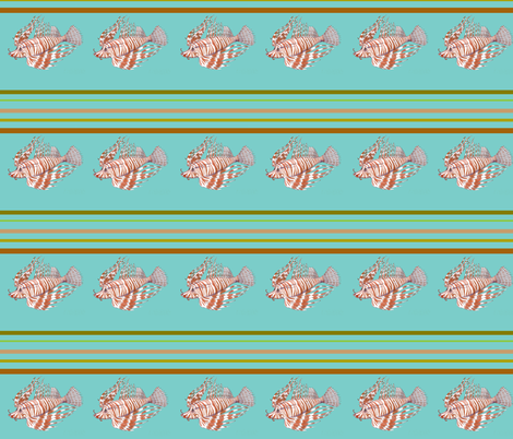 Yipes! Lionfish Stripes fabric by aftermyart on Spoonflower - custom fabric