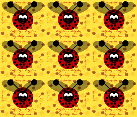 Flight of the Lady Bug fabric by kimi-d on Spoonflower - custom fabric