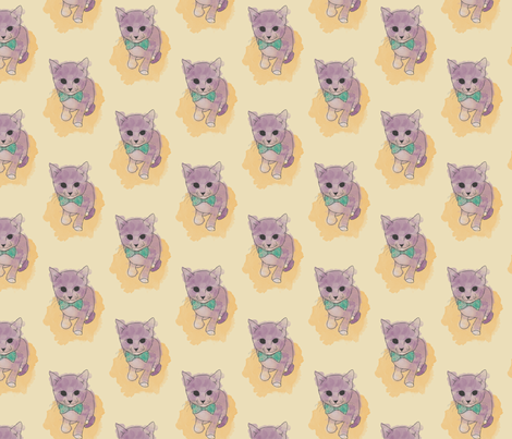 Sir Kitty fabric by rarofabrics on Spoonflower - custom fabric