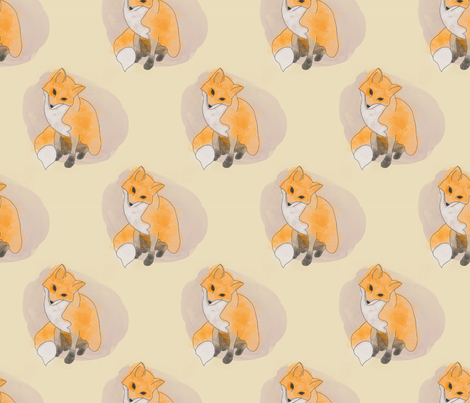 Mr Fox fabric by rarofabrics on Spoonflower - custom fabric