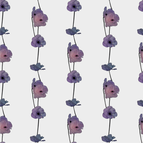 Galaxy Poppies fabric by rarofabrics on Spoonflower - custom fabric