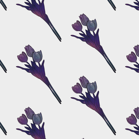 Galaxy Tulips fabric by rarofabrics on Spoonflower - custom fabric