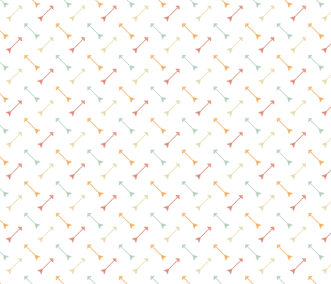 Arrows Sorbet fabric by rarofabrics on Spoonflower - custom fabric