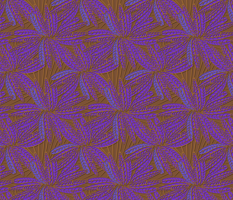 amethyst_feather fabric by glimmericks on Spoonflower - custom fabric