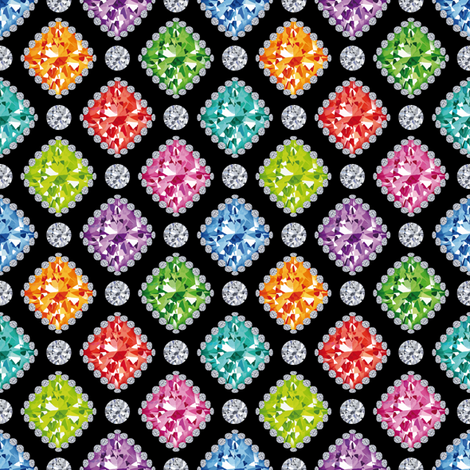 Diamonds fabric by cassiopee on Spoonflower - custom fabric