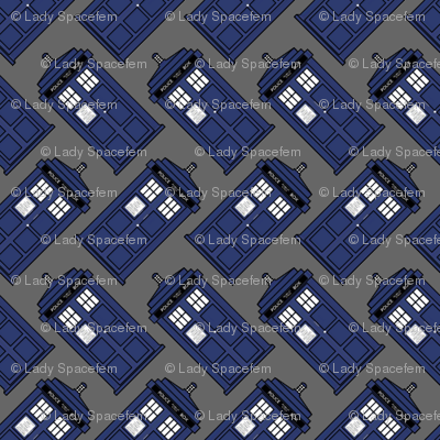 Doctor who diagonal tardis on gray