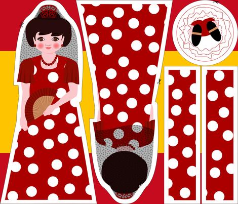 Muñeca Flamenca fabric by mariao on Spoonflower - custom fabric