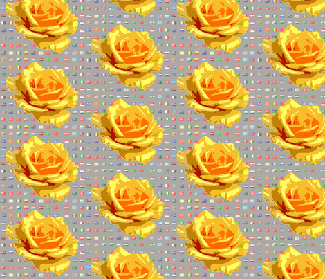 Olympic_Gold_Rose fabric by mammajamma on Spoonflower - custom fabric