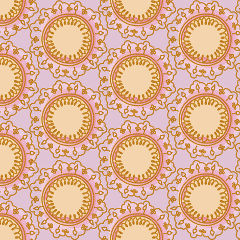 vintage mandala - parma violet fabric by fox&lark on Spoonflower - custom fabric