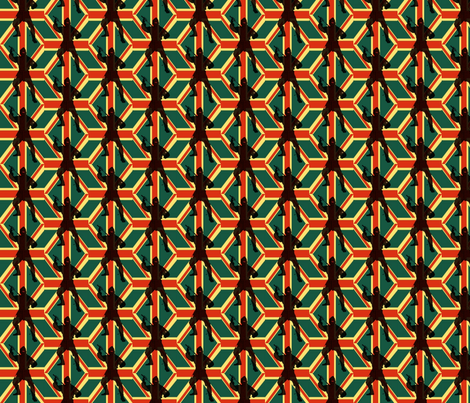 Union Jack Ninja fabric by weebeastiecreations on Spoonflower - custom fabric