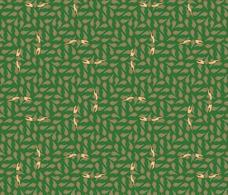 Greyhound Silhouette tan green © 2012 by Jane Walker fabric by artbyjanewalker on Spoonflower - custom fabric