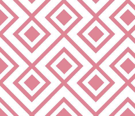 Connect the Blocks Coral fabric by honey&fitz on Spoonflower - custom fabric