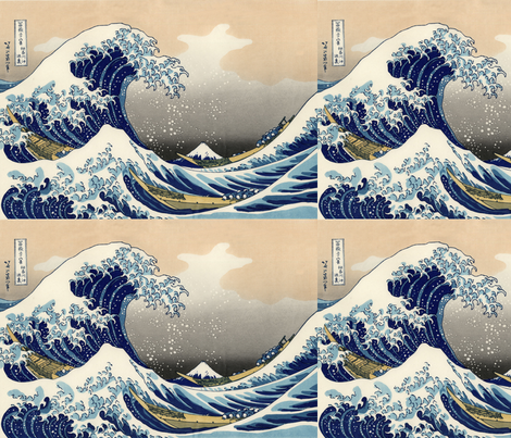 Great Wave fabric by knitmileofdoom on Spoonflower - custom fabric
