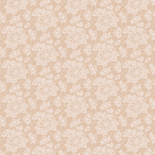 Cream lace flower on mocha