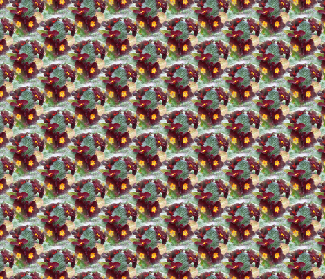 primrose - wine fabric by anino on Spoonflower - custom fabric