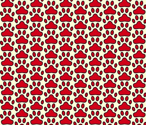 Paws! fabric by robin_rice on Spoonflower - custom fabric