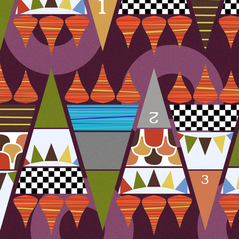 games zig zag fabric by scrummy on Spoonflower - custom fabric