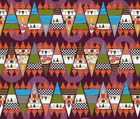 games zig zag fabric by scrummy on Spoonflower - custom fabric