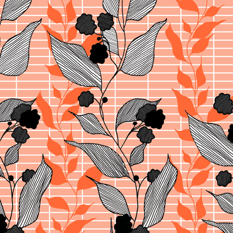 peach fabric by lauradejong on Spoonflower - custom fabric