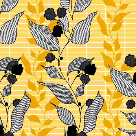 Gold fabric by lauradejong on Spoonflower - custom fabric