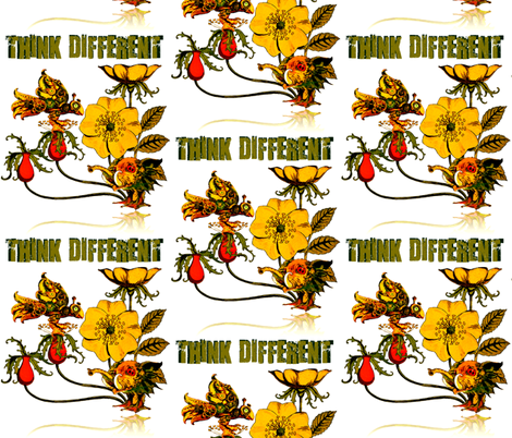 Think Different fabric by whimzwhirled on Spoonflower - custom fabric