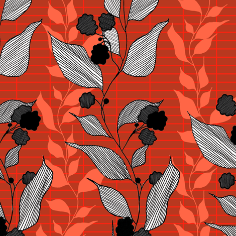 rust fabric by lauradejong on Spoonflower - custom fabric