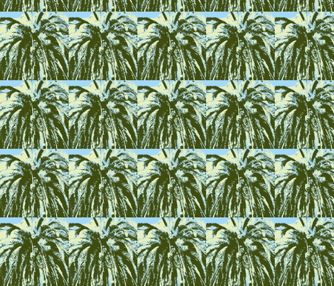 palms green yellow fabric by eat_my_sweet_dust on Spoonflower - custom fabric