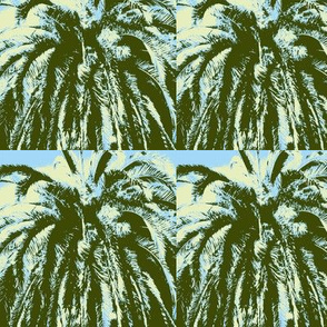 palms green yellow