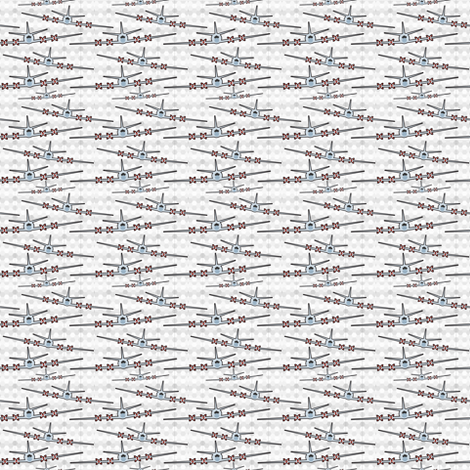 Navy P3 Airplane patriotic with gray hexagons fabric by mainsail_studio on Spoonflower - custom fabric