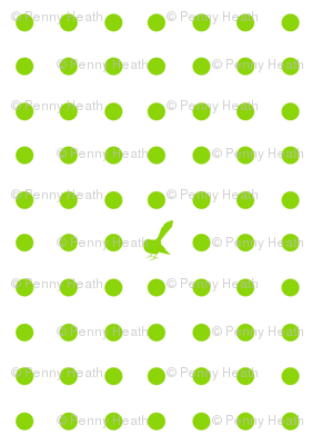 Kiwi Holiday Lime Fantail Polka