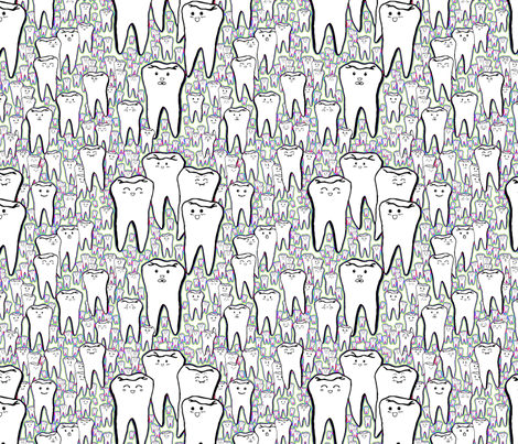 Milk Teeth - Rainbow fabric by beth_snow on Spoonflower - custom fabric