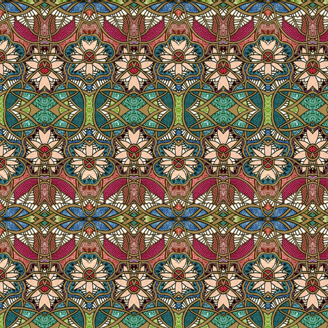 Stained Glass Gardening fabric by edsel2084 on Spoonflower - custom fabric