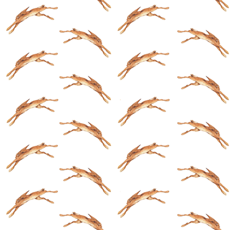 lepus leap fabric by jan_harbon on Spoonflower - custom fabric