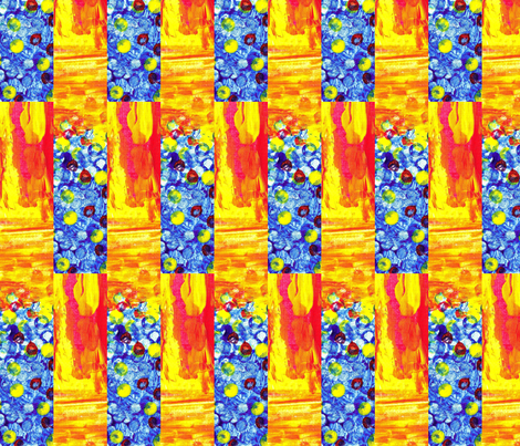 Fire and Water in Circus Colors fabric by anniedeb on Spoonflower - custom fabric